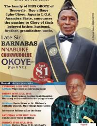 Barnabas Nnabuike Chukwudolue Okoye