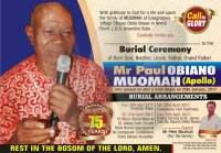 Paul Obiano Muomah obituary