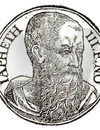 """Japheth third son of Noah"""", as depicted in Promptuarii Iconum Insigniorum (c. 1553)"""