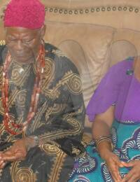 Igwe Kenneth Onyeneke Orizu and Queen Orizu