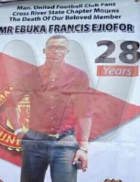 Ebuka Francis Ejiofor Obituary Poster
