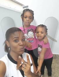 Chisom Jane Anekwe with 2 kids