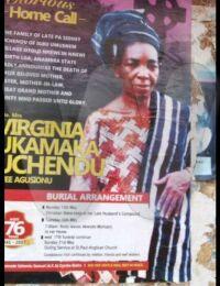 Virginia Ukamaka Agusionu Burial Poster