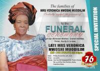 """Veronica Nwoshi """"Oji-ugo Nwanyi"""" Ndigwe Burial Poster"""