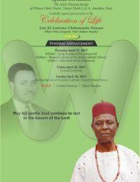Lawrence Chukwuemeka Nwanya Burial poster