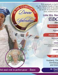 """Beatrice Uchenna """"Nwadioramma"""" Agba"""