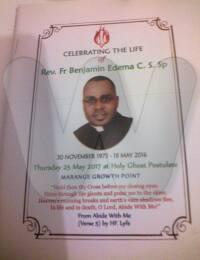 Rev. Fr Benjamin Edema