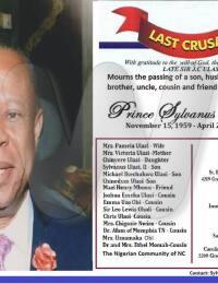 Sylvanus Ulasi Obituary Poster
