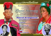 Obituary Poster of Sir & Lady Onuorah
