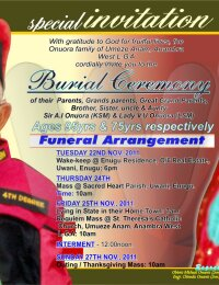 Obituary Poster of Sir & Lady Onuorah