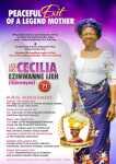 Cecilia Ezinwanne Udezue - Burial Obituary Banner