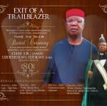 Chief Dr. James uzochukwu Edokwe Chukwukwe Obituary banner