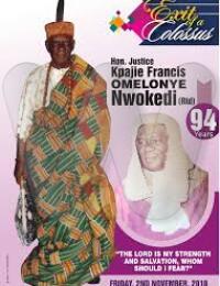 Hon Justice Kpajie Francis Omelonye NWOKEDI Obituary Banner
